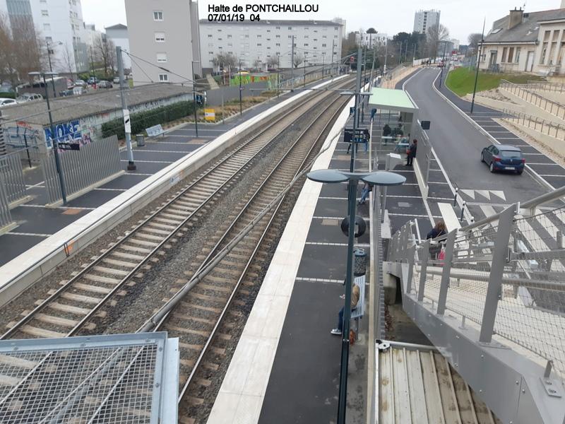Ligne Rennes-St Malo. Halte de Pontchaillou (07/01/19) 20190154