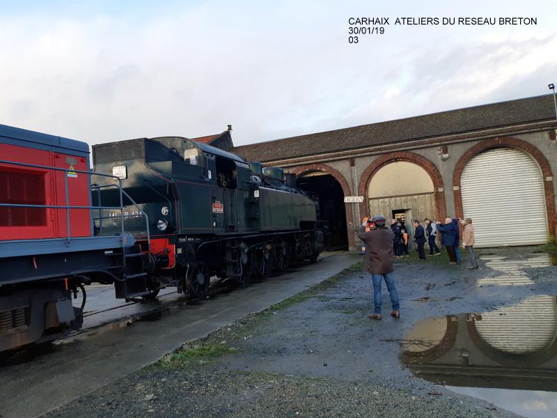 Carhaix. La machine à vapeur BB 141 TB 424  est à la CFTA 20190253