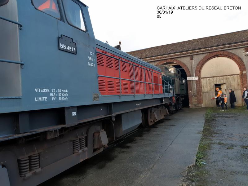 Carhaix. La machine à vapeur BB 141 TB 424  est à la CFTA 20190255