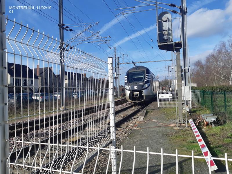 Ligne Rennes-St Malo. Montreuil/Ille  11/02/19 20190333