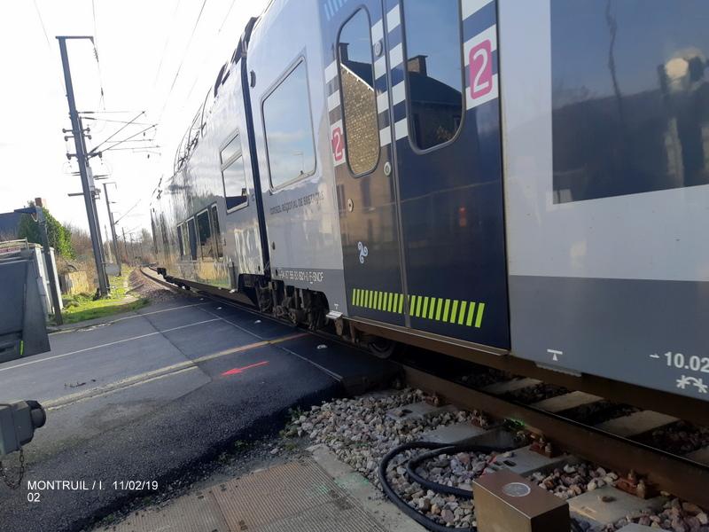 Ligne Rennes-St Malo. Montreuil/Ille  11/02/19 20190334