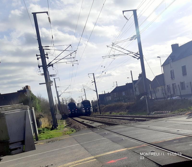 Ligne Rennes-St Malo. Montreuil/Ille  11/02/19 20190335