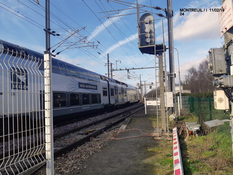 Ligne Rennes-St Malo. Montreuil/Ille  11/02/19 20190336