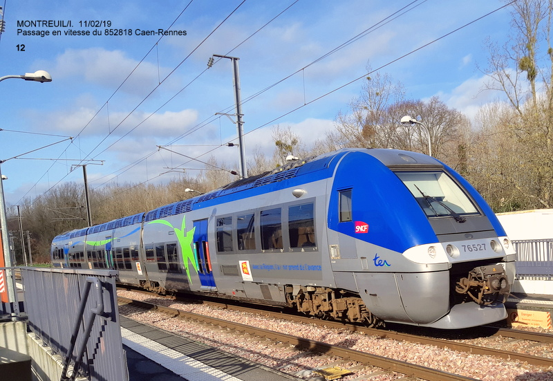 Ligne Rennes-St Malo. Montreuil/Ille  11/02/19 20190345