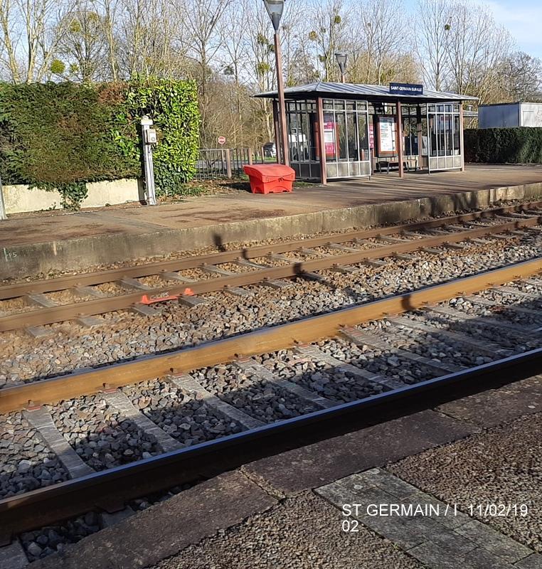 Ligne Rennes-St Malo. Halte de St Germain/Ille 11/02/19 20190372