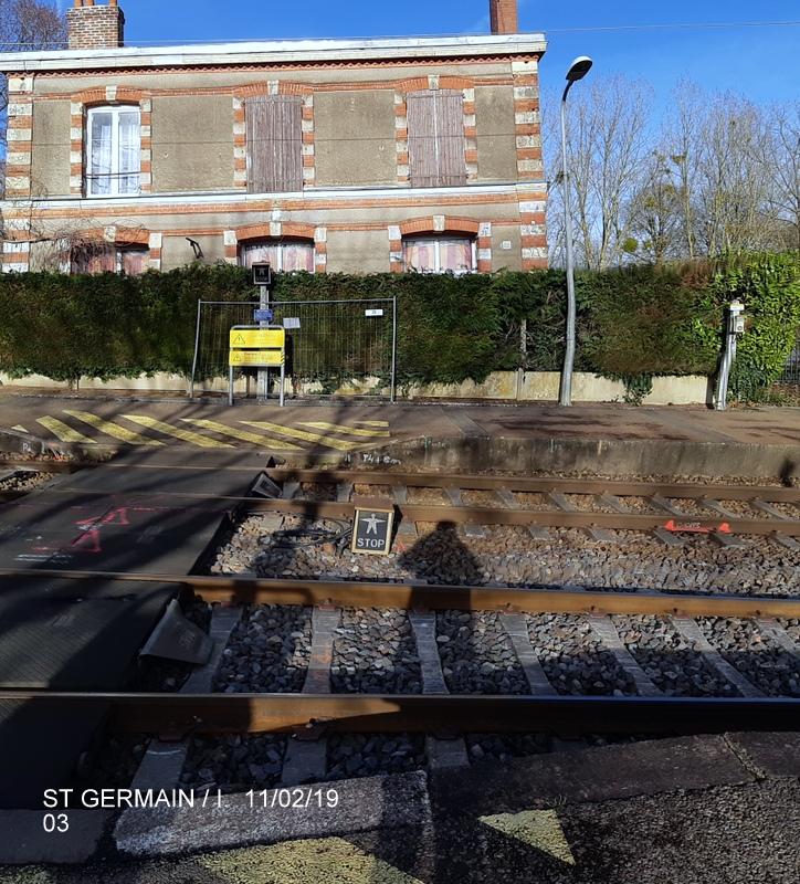 Ligne Rennes-St Malo. Halte de St Germain/Ille 11/02/19 20190373