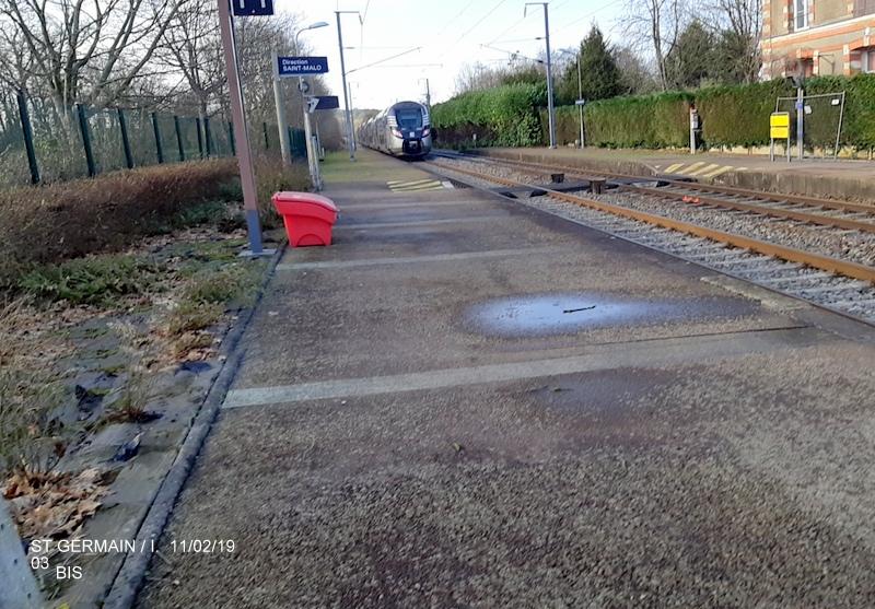 Ligne Rennes-St Malo. Halte de St Germain/Ille 11/02/19 20190375