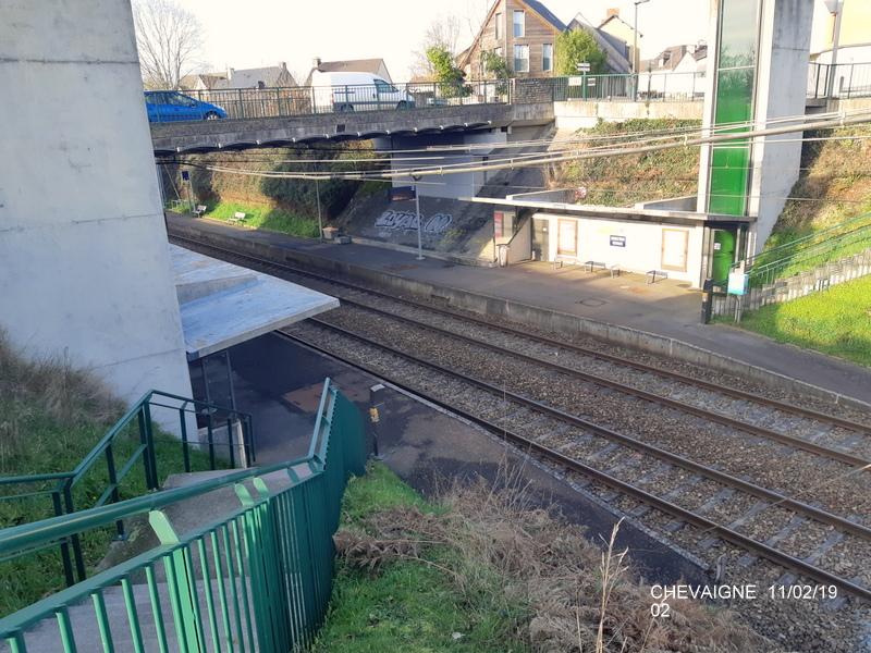 Ligne Rennes-St Malo. Halte de Chevaigné  11/02/19 20190378