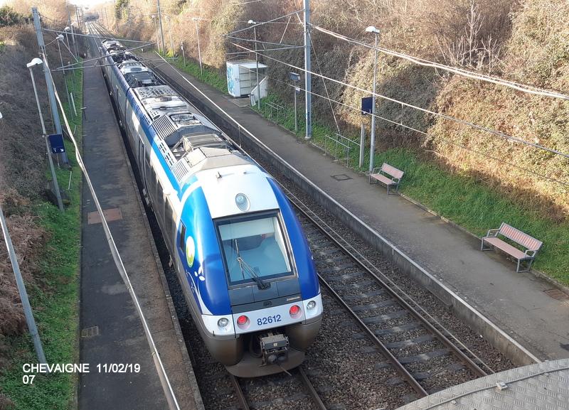 Ligne Rennes-St Malo. Halte de Chevaigné  11/02/19 20190383