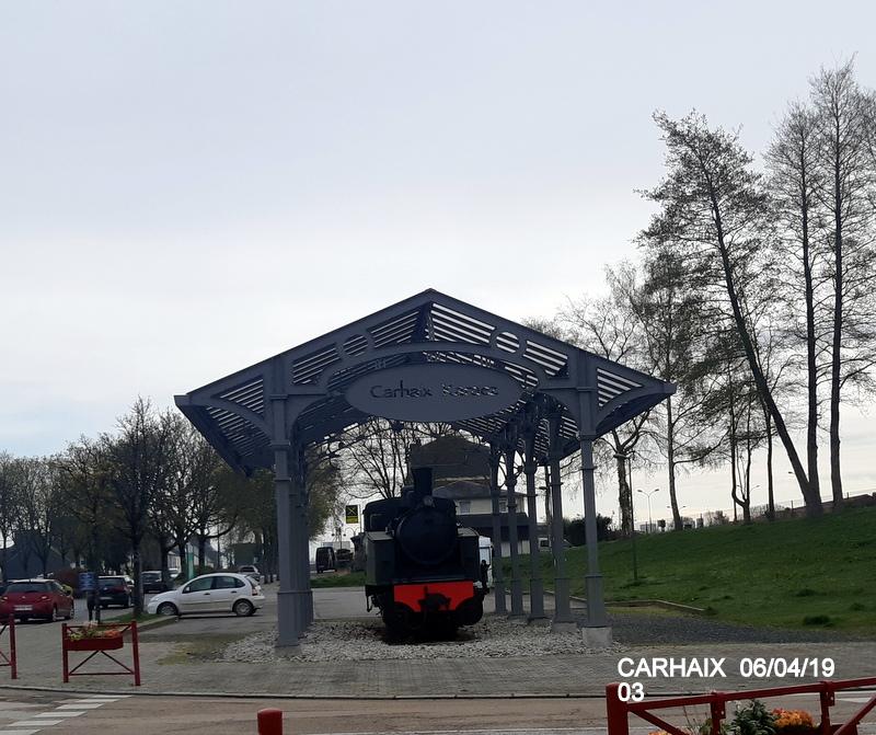 """Carhaix. Le """"berceau"""" de la Mallet 030-030 et de la 141 TB 424 (06/04/2019) 20190505"""