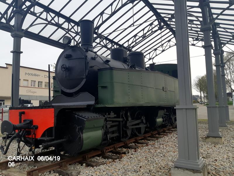 """Carhaix. Le """"berceau"""" de la Mallet 030-030 et de la 141 TB 424 (06/04/2019) 20190509"""