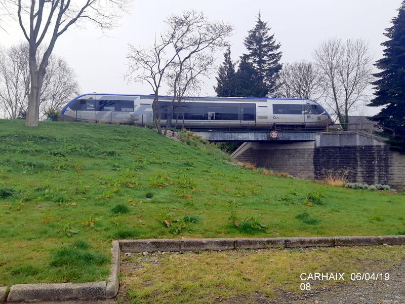 """Carhaix. Le """"berceau"""" de la Mallet 030-030 et de la 141 TB 424 (06/04/2019) 20190511"""