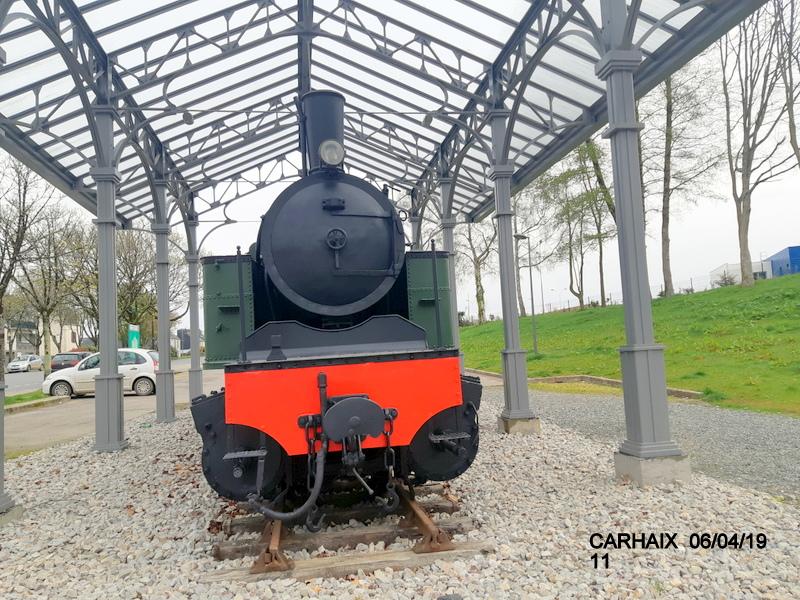 """Carhaix. Le """"berceau"""" de la Mallet 030-030 et de la 141 TB 424 (06/04/2019) 20190514"""
