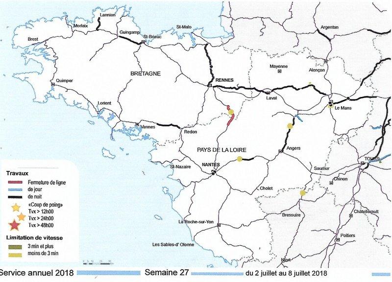 Chantiers  SNCF RESEAU  BRETAGNE-PAYS DE LA LOIRE juillet 2018 Image081