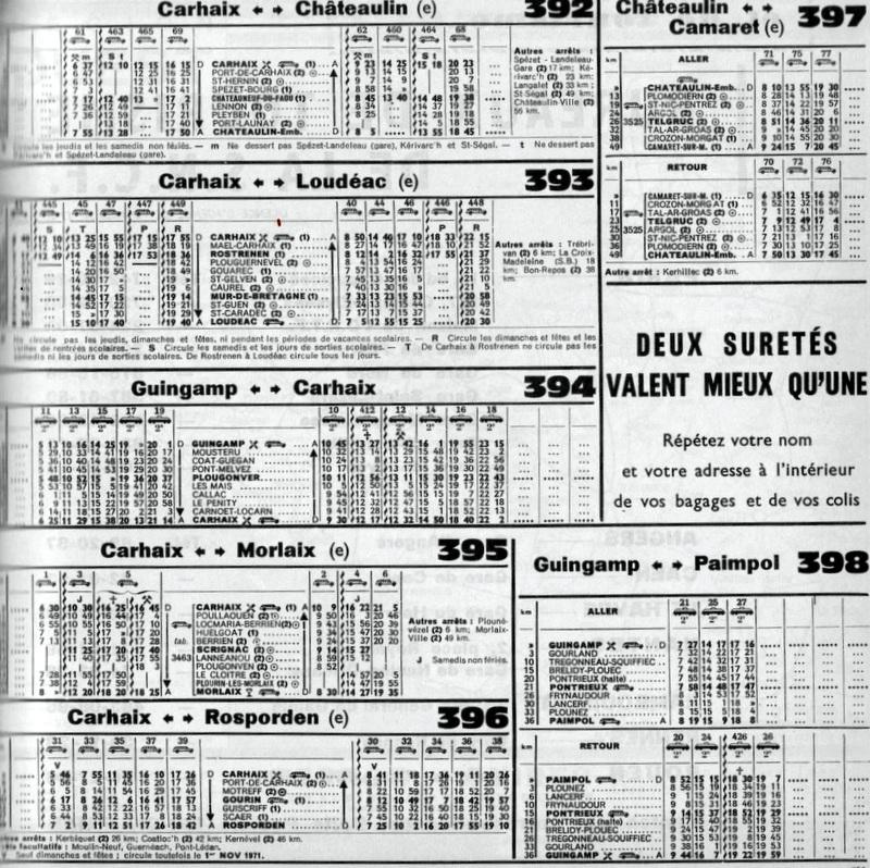 HORAIRES ETOILE DE CARHAIX (RB) 1962-1974/75 Image_12