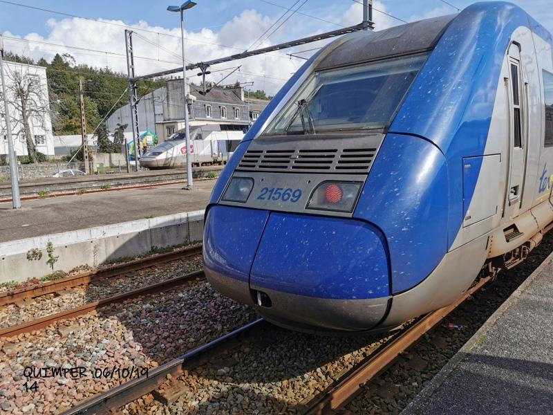 En gare de Quimper le 04/10/19 et le 06/10/19 Img_2285
