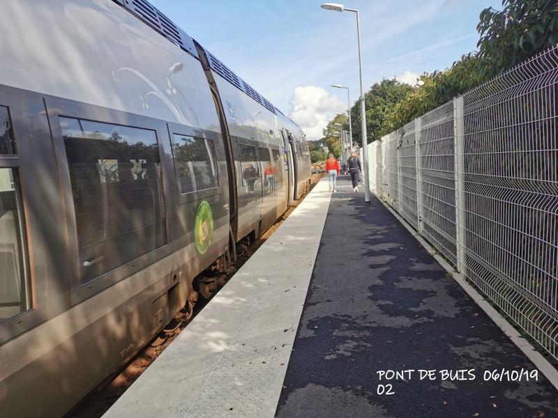 Ligne Quimper-Landerneau (Brest) Halte de Pont de Buis 06/10/19 Img_2292
