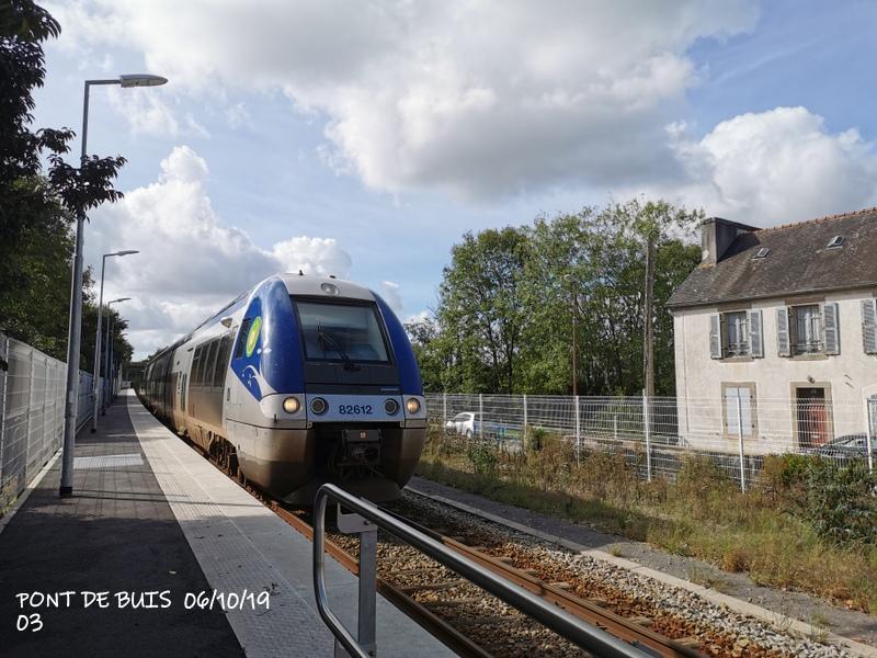 Ligne Quimper-Landerneau (Brest) Halte de Pont de Buis 06/10/19 Img_2293