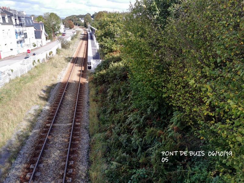 Ligne Quimper-Landerneau (Brest) Halte de Pont de Buis 06/10/19 Img_2295