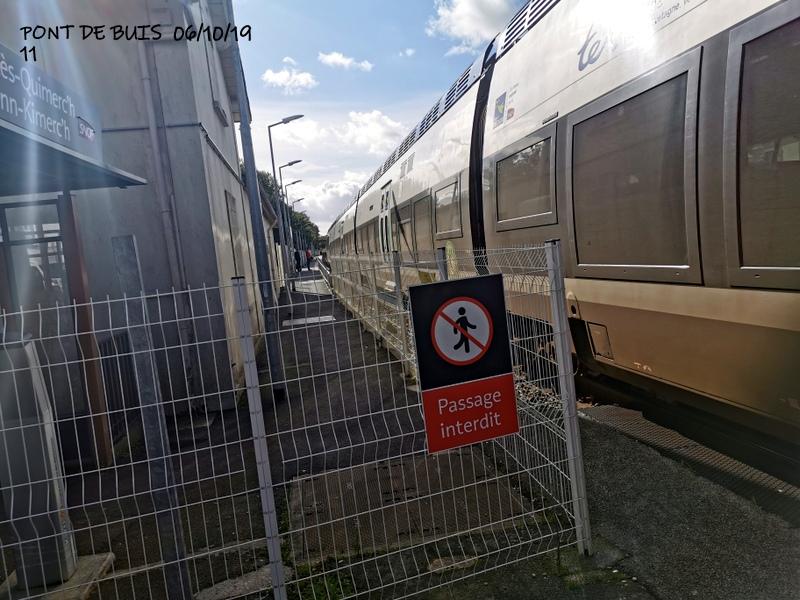 Ligne Quimper-Landerneau (Brest) Halte de Pont de Buis 06/10/19 Img_2302