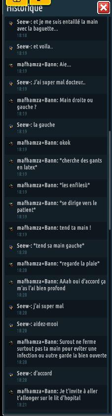 [C.H.U] Rapports d'actions RP de mafhamza=Bann Se310