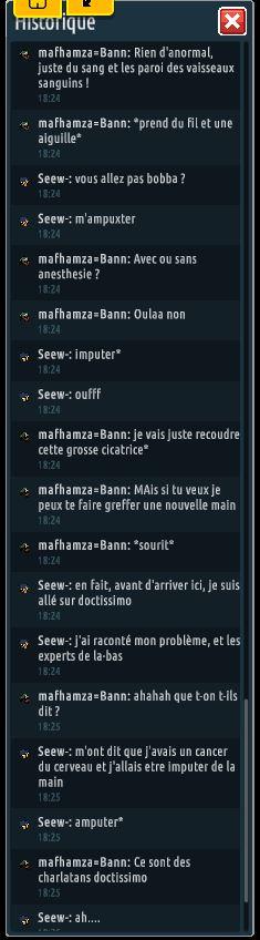 [C.H.U] Rapports d'actions RP de mafhamza=Bann Se510