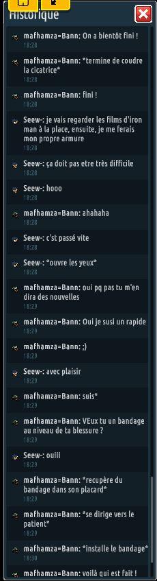 [C.H.U] Rapports d'actions RP de mafhamza=Bann Se710