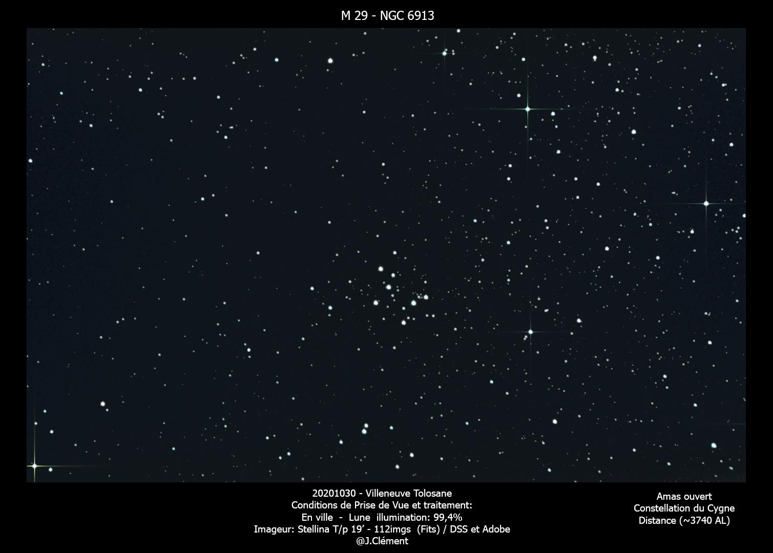 M27/29 Essai malgré la pleine lune avec l'imageur Stellina 20201011