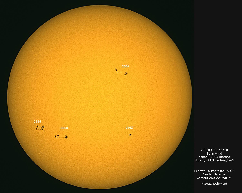 Belle reprise de l'activité solaire 20210912