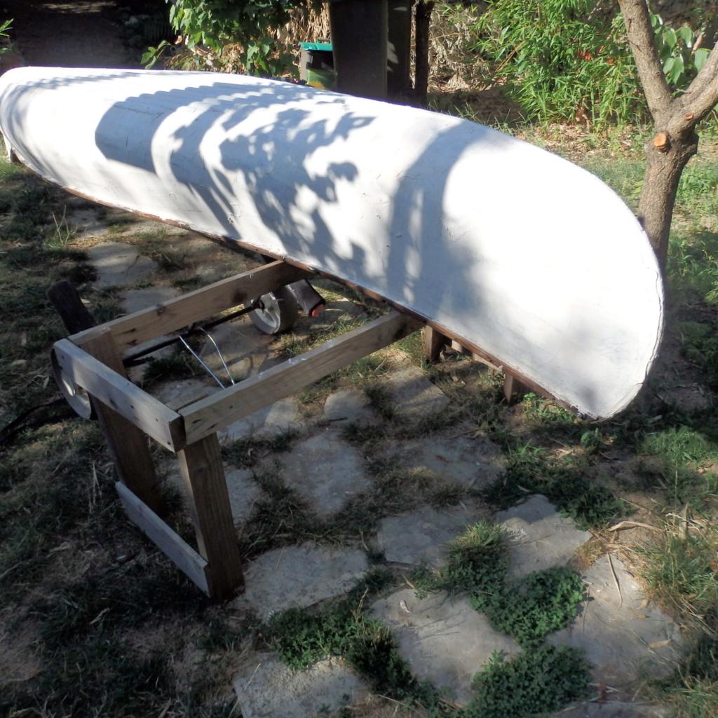 INCONNU wood & canvas, half ribs, 14 ft P8041315