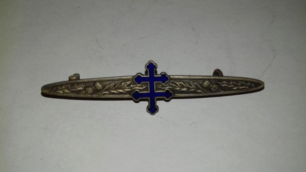 Barrette qui était avec la croix de guerre dite de l'armée GIRAUD 20201010