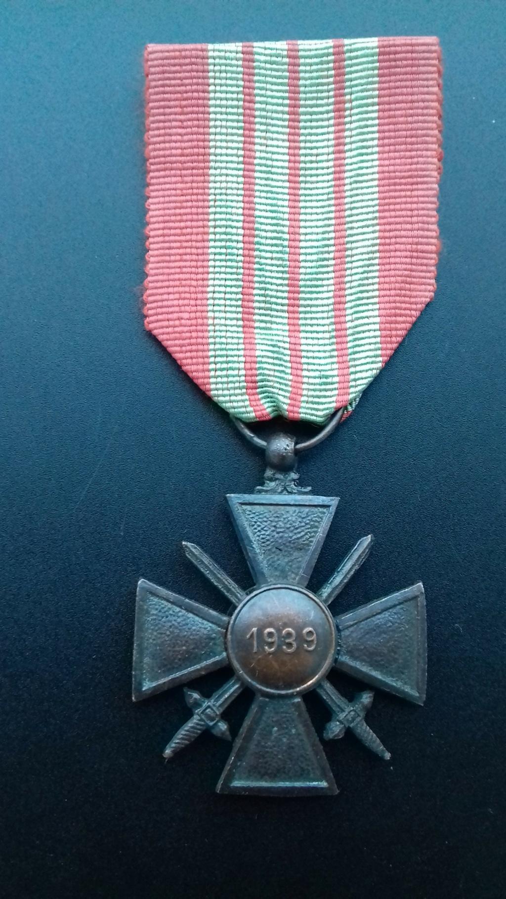 Croix de Guerre 1939 dite de Milan  20201214
