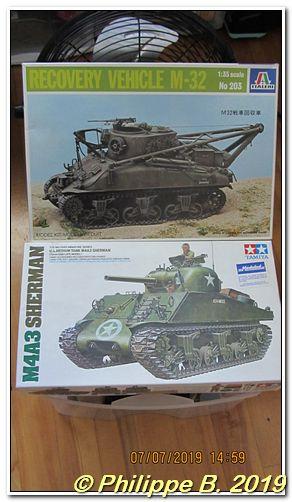M4A3 (Tamiya MM222) vs M32 (Italeri 203), 1:35 - M4A3 prêt à peindre Tn_64026