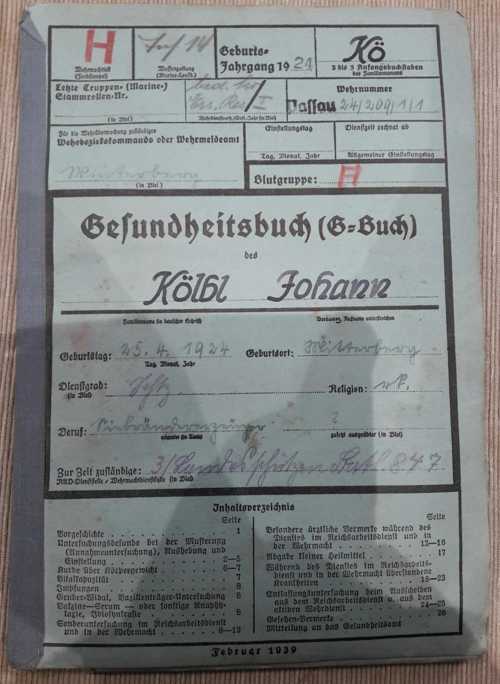 Wehrpass et lot de documents  20190214