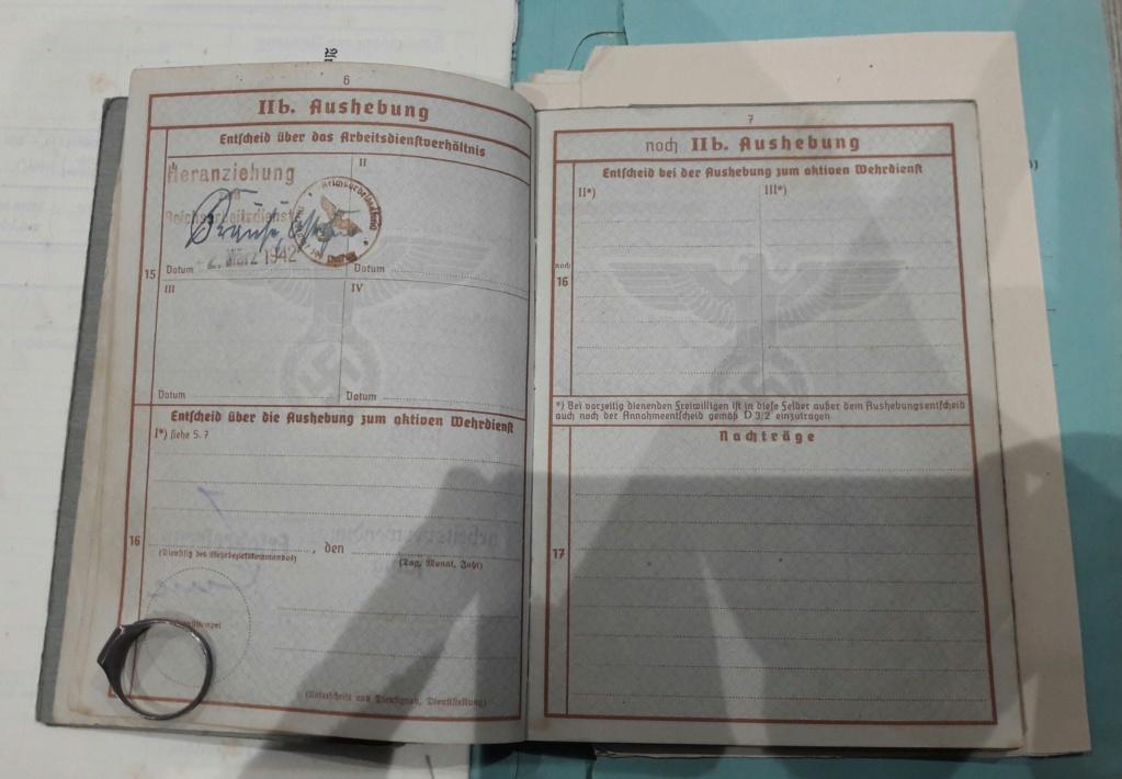 Wehrpass et lot de documents  20190216