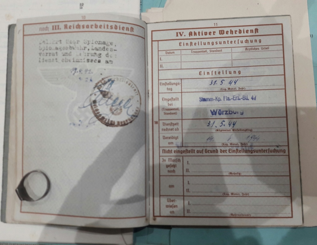 Wehrpass et lot de documents  20190219