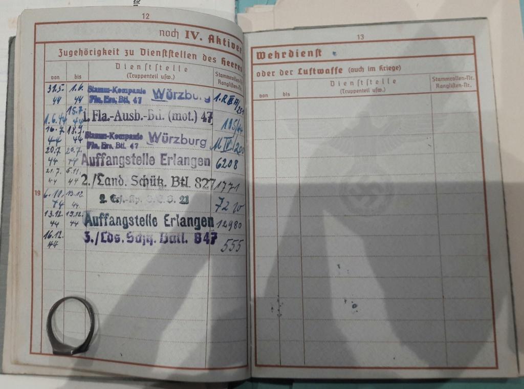 Wehrpass et lot de documents  20190221