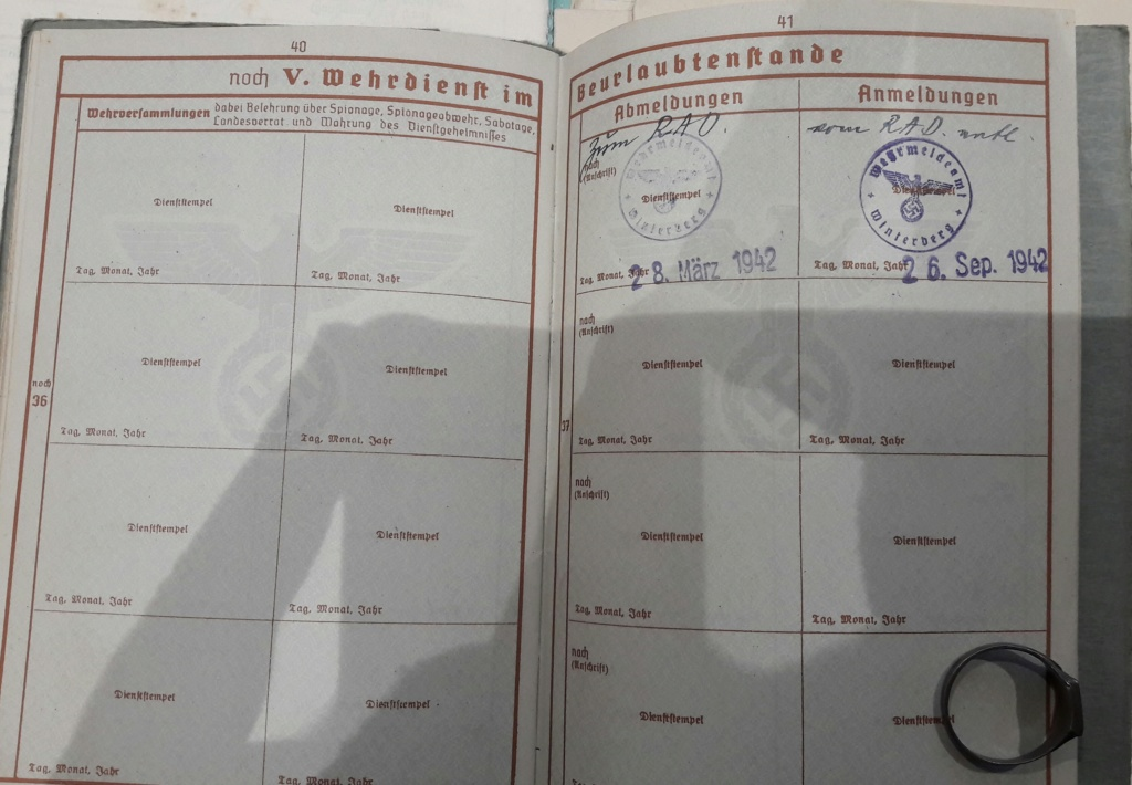 Wehrpass et lot de documents  20190222