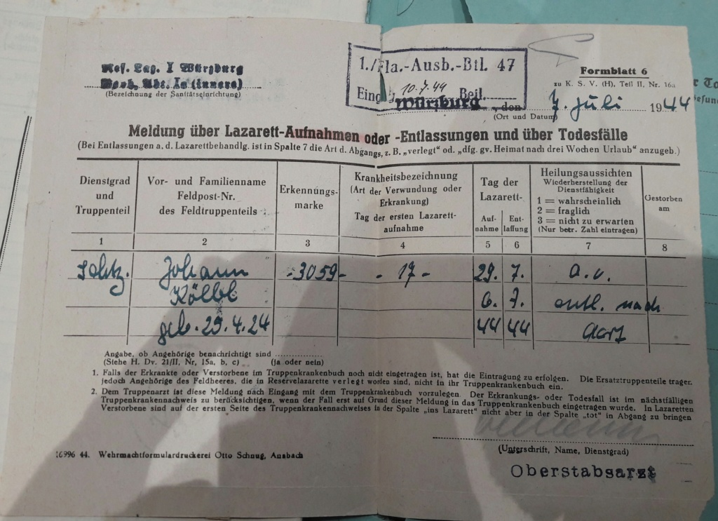 Wehrpass et lot de documents  20190237