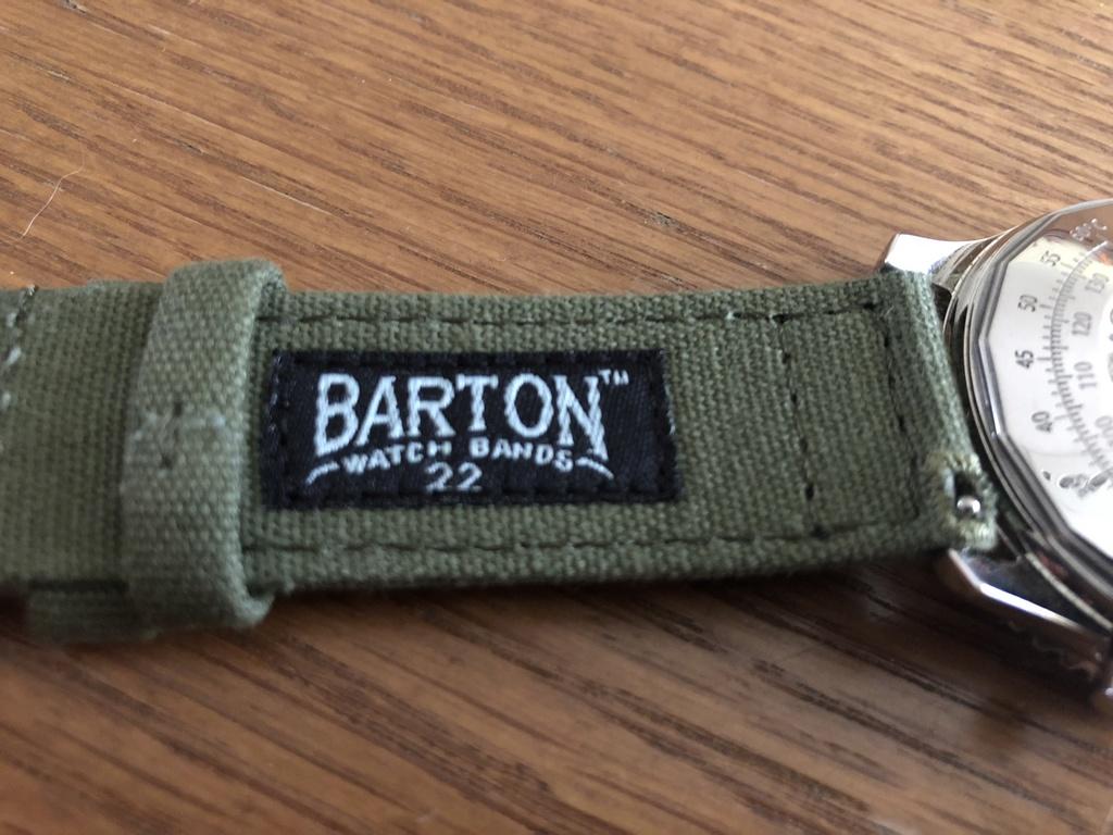 Breitling Navitimer + Canvas verde Barton D4867d10