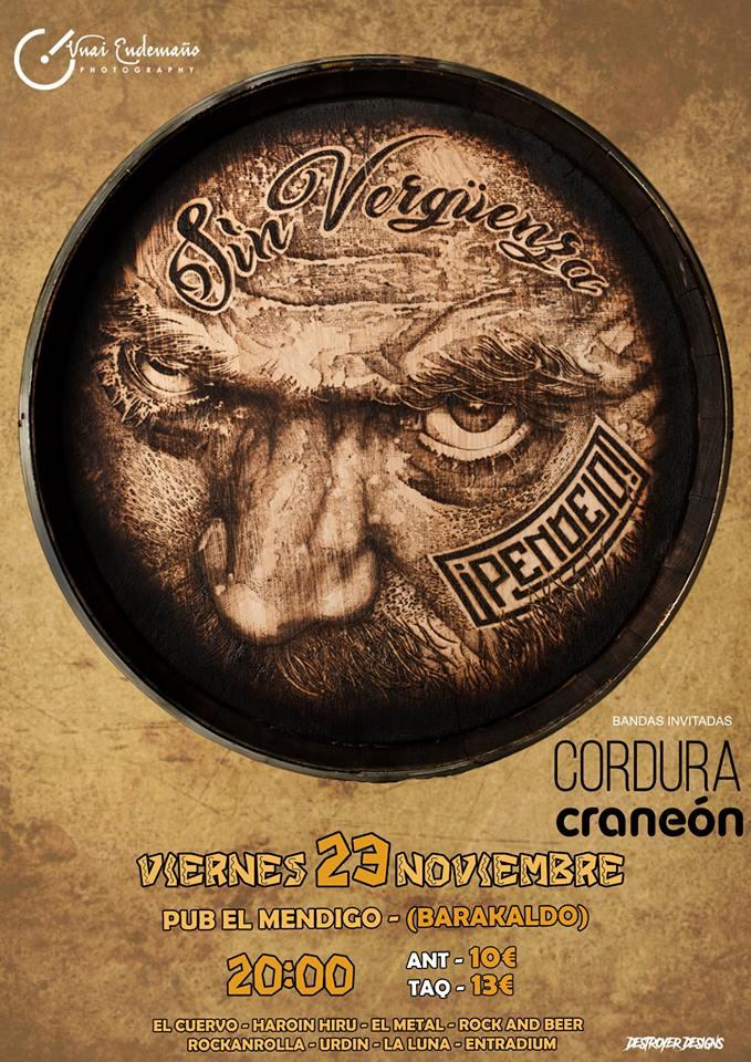 PENDEJO! gira estatal. Viernes: + Cordura + Craneon en el Mendigo (Barakaldo) 46258110