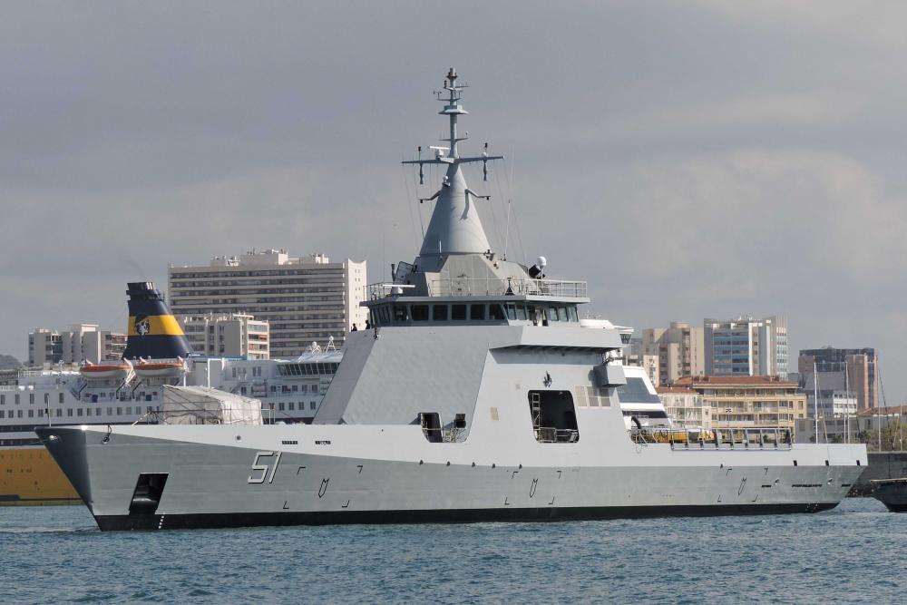Parte desde Francia a Mar del Plata un un patrullero oceánico que adquirió Argentina