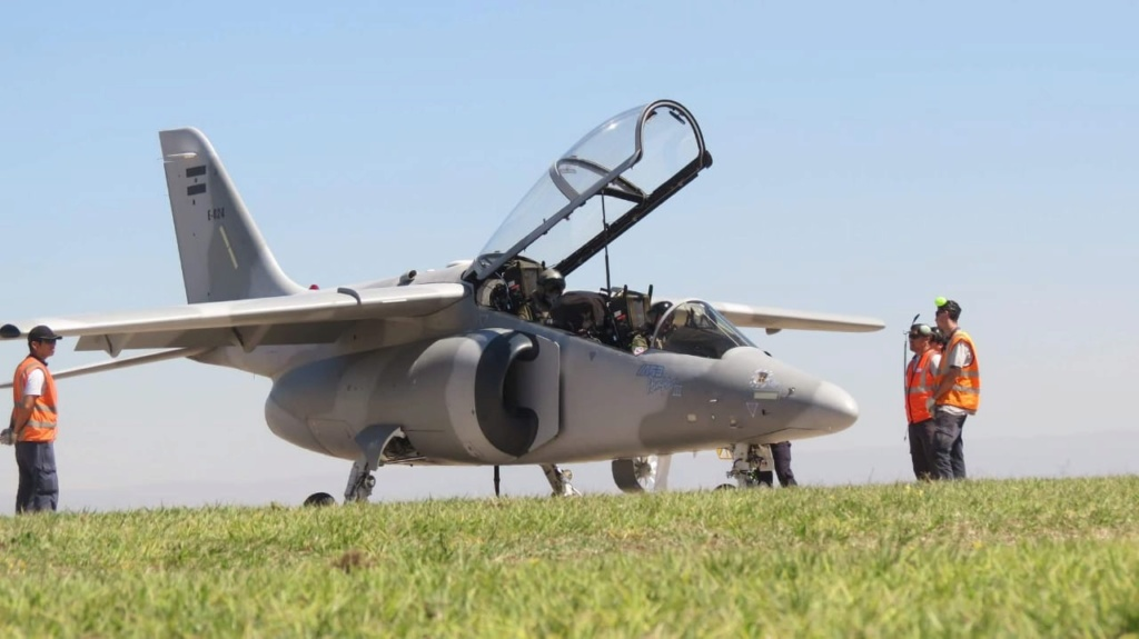 Primer vuelo funcional del avión Pampa III - E 824 Whatsa11