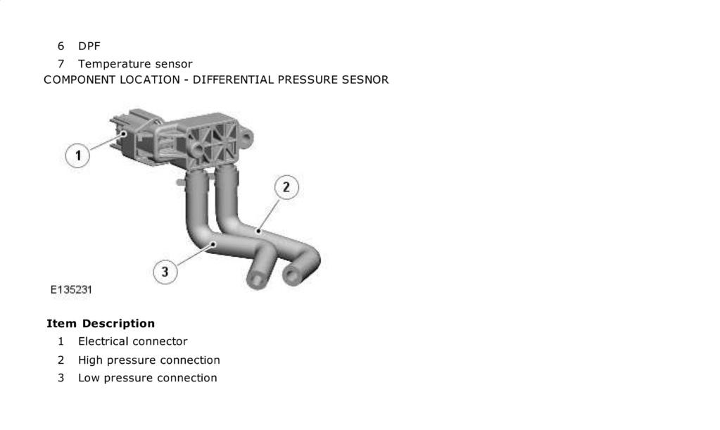 sensor de presión filtro de partículas 310