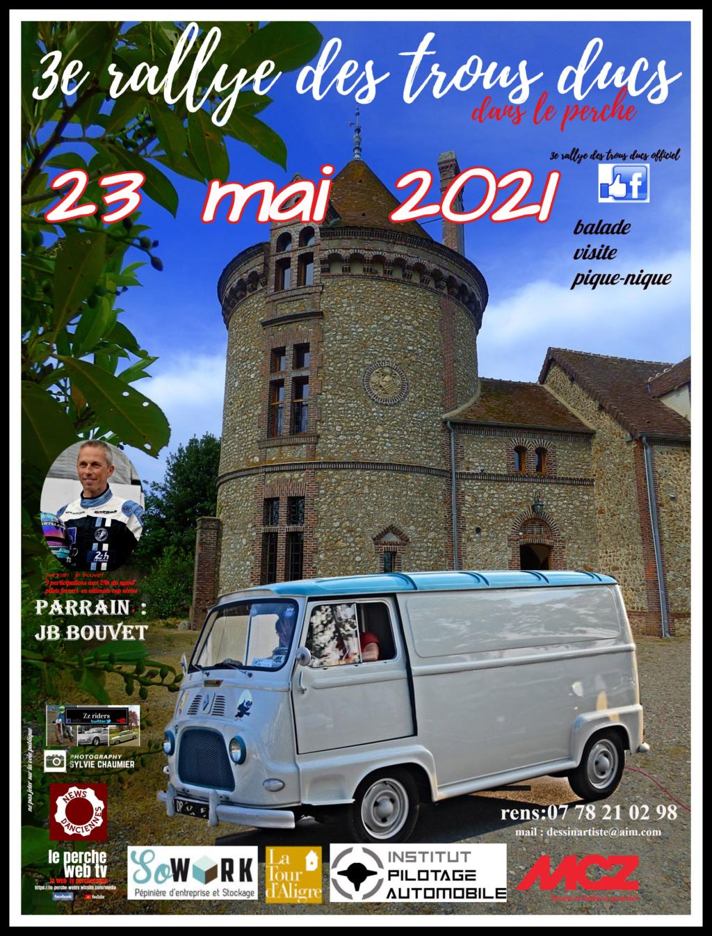 3e Rallye des Trous Ducs dans le Perche   23  mai  2021   Affich11