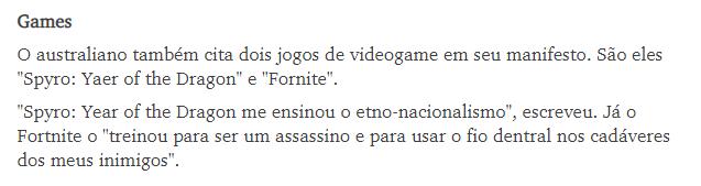 Sobre o ataque em Suzado e claro os VG Games10
