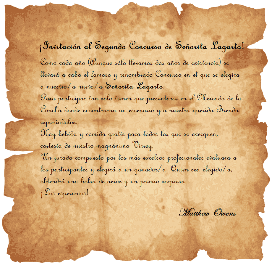 Invitación al Segundo Concurso de Señorita Lagarto [Libre] Senori11