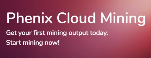[NUEVA] Phenix Cloud Mining. Minería en la nube de varias cryptomonedas - 200 GHs de potencia gratis para minar sin inversión. Ximage10