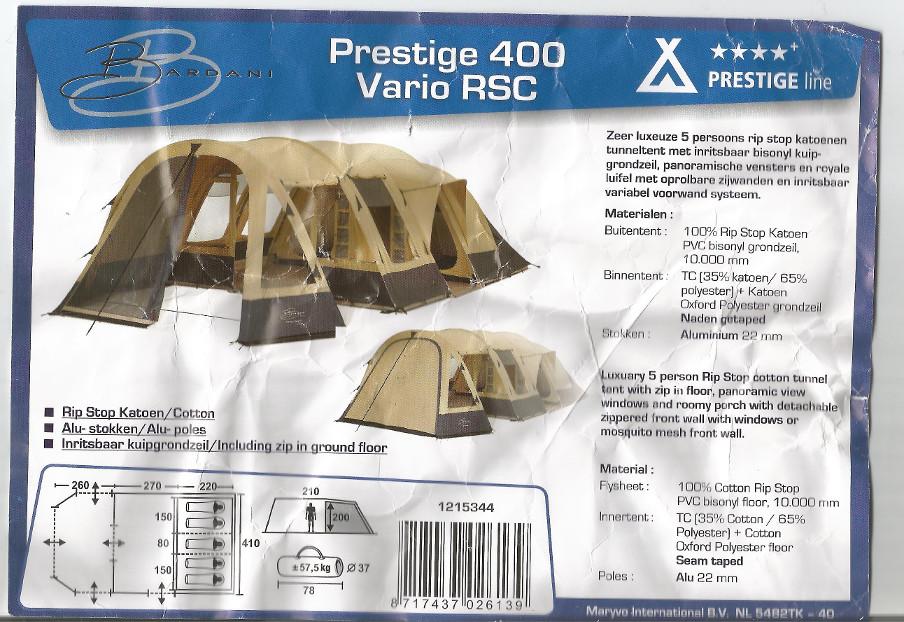 Bardani 400 vario Prestige dispo à partir du 1er aout Photo110