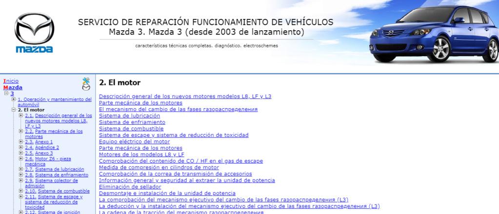 MANUAL TALLER-MANTENIMIENTO On-Line (español): MAZDA 3 (2003-2009) Captur18